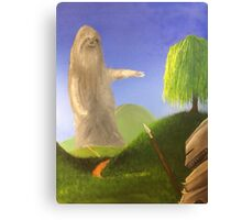 Sloth and Knight Canvas Print