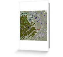 Cool Perspective - Green Olive, Sage & Blue Greeting Card