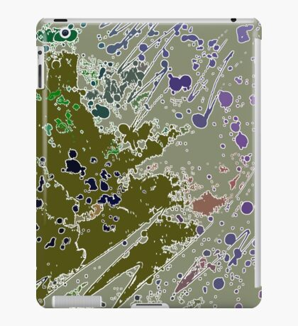 Cool Perspective - Green Olive, Sage & Blue iPad Case/Skin