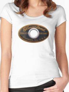 Slingerland Drum Badge Women's Fitted Scoop T-Shirt