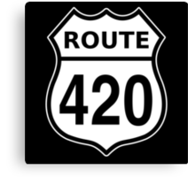Route 420 US highway sign Cannabis Canvas Print