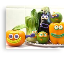 vegetable cacophony Canvas Print