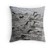 Swim this way Throw Pillow