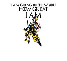 I AM GOING TO SHOW YOU HOW GREAT I AM- GOKU Photographic Print