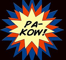 Pa-Kow Comic Exclamation Shirt by zoturner