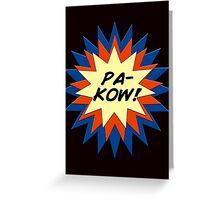 Pa-Kow Comic Exclamation Shirt Greeting Card
