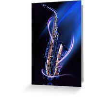 Magical Saxophone Greeting Card
