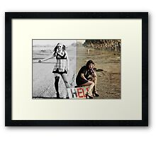 they dropped out in 1977 and took the road to hell Framed Print