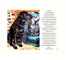 PuppyPowerProfile Art Print