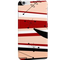 Mid-Century Modern Boomerangs iPhone Case/Skin