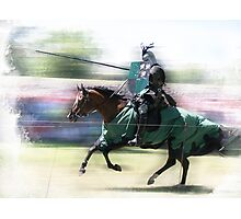 Jousting Knight  Photographic Print