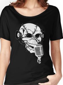 Singing Skull  Women's Relaxed Fit T-Shirt