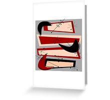 Mid-Century Modern Boomerangs Grey Greeting Card