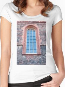 Gothic window. Women's Fitted Scoop T-Shirt
