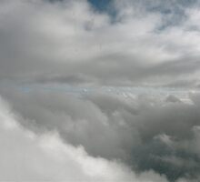 Clouds at 36,000 Ft. by Bonnie Pelton