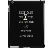 XFILES IS BACK iPad Case/Skin