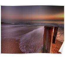 Hayling Beach - HDR Poster