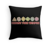 Dungeons And Dragons Choose Your Weapon Throw Pillow