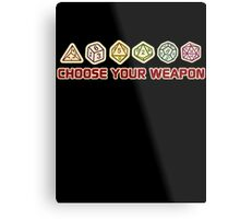 Dungeons And Dragons Choose Your Weapon Metal Print