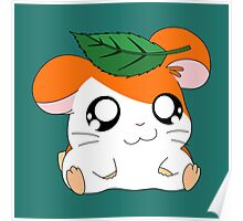 Hamtaro with Leaf Poster