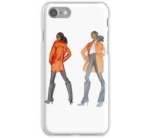 For Stylish Fashion Girls in white, black and red iPhone Case/Skin