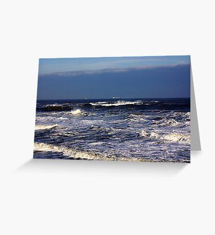 North Sea off Sandsend,North Yorkshire. Greeting Card