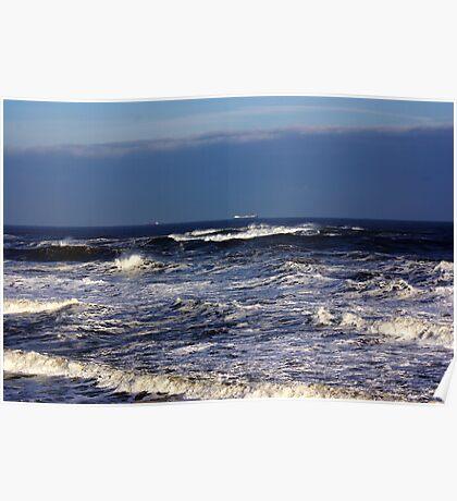 North Sea off Sandsend,North Yorkshire. Poster