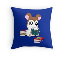Maxwell with Books Throw Pillow