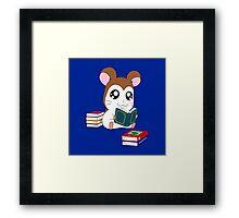Maxwell with Books Framed Print