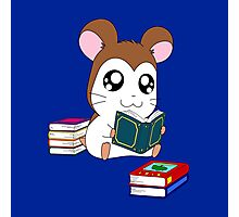 Maxwell with Books Photographic Print