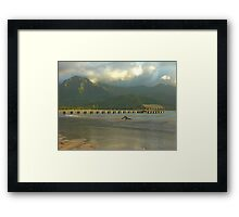 Evening Light, Hanalei Pier Framed Print