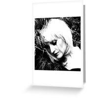 Abandoned sad doll (black tear session) Greeting Card