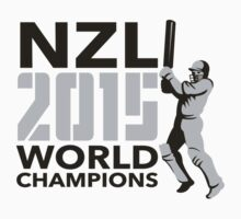 New Zealand NZ Cricket 2015 World Champions by patrimonio