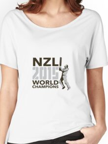 New Zealand NZ Cricket 2015 World Champions Women's Relaxed Fit T-Shirt