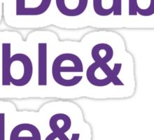 Crochet Addict - Yarn Hoarders & Needlecrafters Unite! Sticker