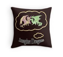 Imagine Dragons fan art with text (black) Throw Pillow