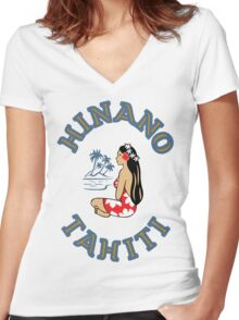 Hinano Tahiti Beer Women's Fitted V-Neck T-Shirt
