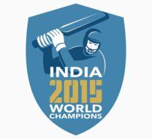 India Cricket 2015 World Champions Shield by patrimonio