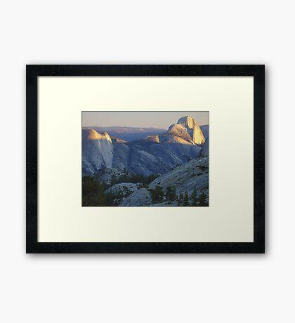 Evening Sunlight, Olmsted Point Framed Print