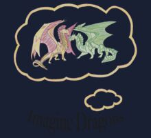 Imagine Dragons fan art with text Kids Tee