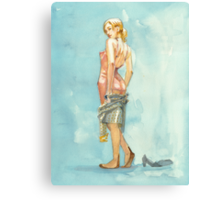 Pinup with a Pink Slip Canvas Print