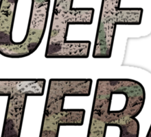 OEF Veteran Multicam Text Sticker
