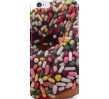 Chocolate Sprinkled Donut Sticker iPhone Case/Skin