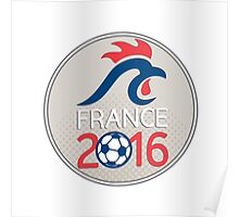 France 2016 Football  Europe Championships Circle Poster