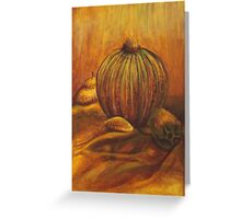 Complimentary Colored Pumpkin Greeting Card