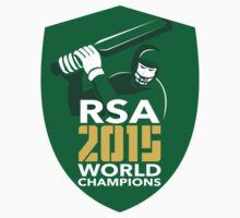 South Africa Cricket 2015 World Champions Shield by patrimonio