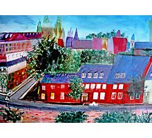 View  Upper  Quebec City    ( My Paintings )  Photographic Print