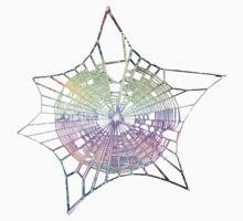 Rainbow Spider Web One Piece - Short Sleeve