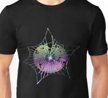 Rainbow Spider Web Unisex T-Shirt