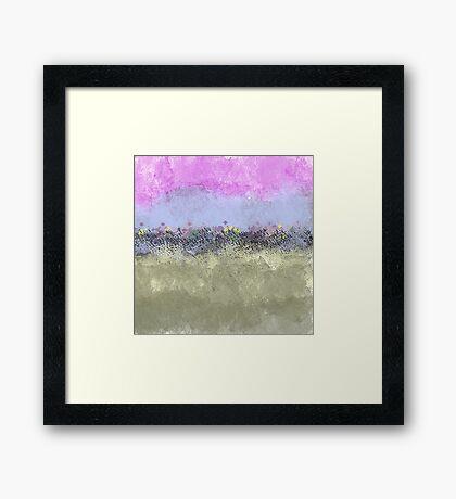 Abstract Pastel Flower Garden Framed Print